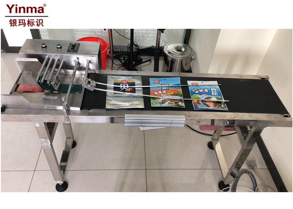 Stainless Steel Paging Machine 1500 X 560 X 950mm Dimension For Food Bags  / Sacks